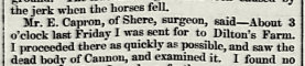 Garibaldi Inn inquest into death of farm worker and two horses by lightning strike at Dilton Farm in 1867